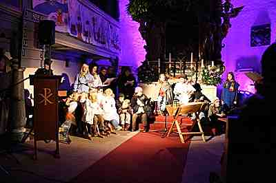 Krippenspiel in der Joditzer Johanniskirche